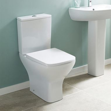 Harbour Alchemy Rimless Toilet & Slim Wrapover Soft Close Seat - 610mm Projection
